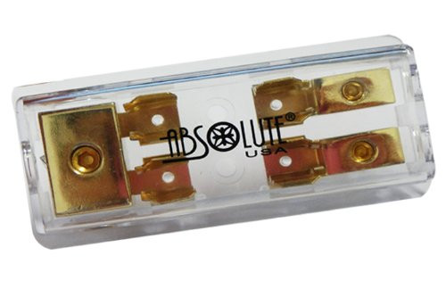 Absolute AGD22 Gold AGU Style Fuse Power or Ground 2 Gang Distribution Fuse Block