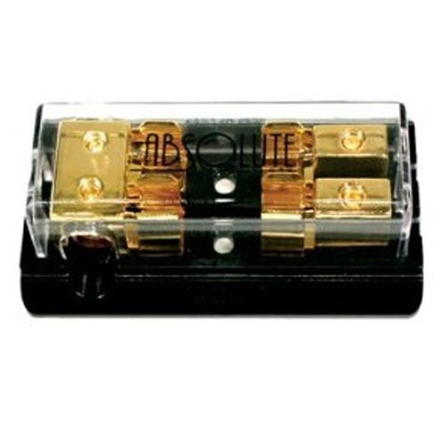 Absolute AGD22G 2 Gang Gold AGU Fuse Distrubution Block