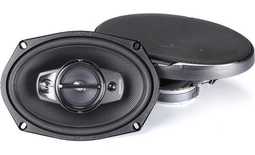 "Kenwood KFC-6985PS 115W 6x9"" 4-Way Performance Series Flush Mount Coaxial Speakers w/ PET Tweeters"