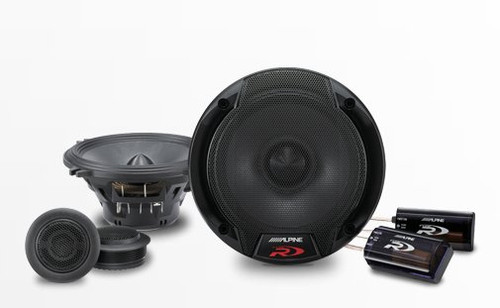 "Alpine SPR-50C 5-1/4"" 2-Way Type-R Series Component Car Speaker System Pair"