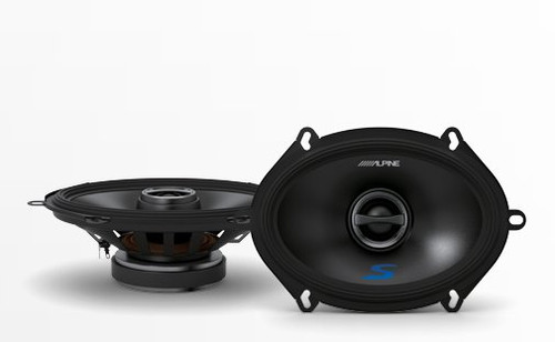 Alpine S-S57 S Series 2-Way Coaxial Car Speakers Pair