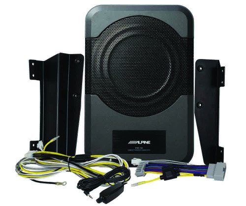 "Alpine PWE-S8-WRA Restyle 8"" Amplified Custom Fit for 2011-up Jeep Wrangler (4 door) - Under Seat Plug and Play 120 Watt Amplified Subwoofer"