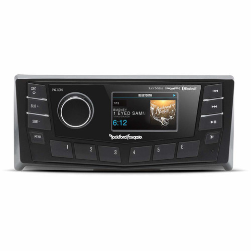 """Rockford Fosgate PMX-5CAN Punch Marine AM/FM/WB Digital Media Receiver 2.7"""" Display w/CANbus"""