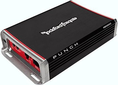 Rockford Fosgate PBR300X2 Punch 300-Watt 2-Channel Boosted Rail Amplifier
