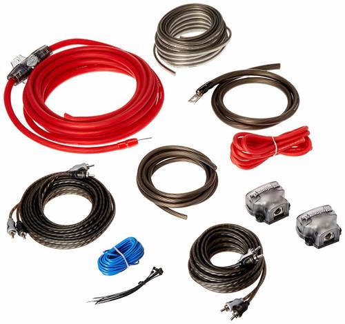 Rockford Fosgate RFK4D 4 AWG Dual Amplifier Install Kit