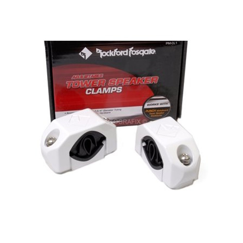 Rockford Fosgate PM-CL1 Diecast Wakeboard Tower Clamp White