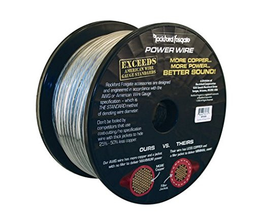 Rockford Fosgate 51 Foot Spool of 1/0 AWG Pure Crystal-Oxygen Free Copper Wire