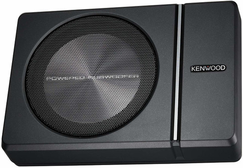 "Kenwood KSC-PSW8 250W Max (150W RMS) Single 8"" Under Seat Powered Subwoofer Enclosure w/ Remote Control"