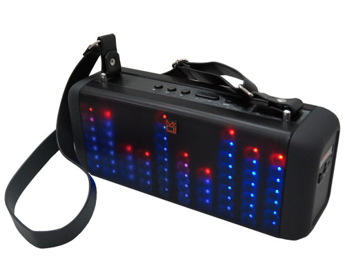 "MR DJ SOUL 4"" PORTABLE POWER ACTIVE SPEAKER WITH BLUETOOTH, RECHARGEABLE BATTERY LED LIGHTS"