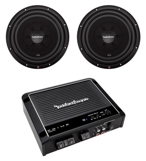 "2) Rockford Fosgate R2SD4-12 12"" Shallow Car Subwoofers+R500X1D Mono Amplifier"
