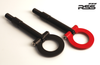 """941/30 Folding Tow Hook 991.1 - 991.2 Gt2/GT3/RS, 991, 970, 971, 981, 718, Finish: BLACK. RSS Tow Hooks for Porsche Automobiles. Designed, engineered and manufactured in USA. High quality and functionality for your Porsche. RSS Folding Tow Hooks for Porsche Models are engineered with a 90 Degree Angle Stop Design and with Adjustable Bumper Offset to prevent bumper cover contact. Made in USA at RSS. Easy to Install, Screws Into Factory Location; Black 1018 Steel Shaft w/Stainless Steel Hoop; Angle of Hoop is Adjustable; 2"""" Opening; Utilizes Special Factory Porsche Thread Style; BLACK (#941/30), and RED (#941/34)."""