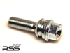 "50179-00 - Extended  Lug  Bolts ""SILVER  Zinc Coated - ideal for Track and Street use. RSS now offers extended lug bolts for your Porsche OEM Wheels or aftermarket wheels of the same hub specifications. These lugs bolts provide greater depth and thread engagement into the wheel hub. The lugs are of the highest quality (TUV and ISO Certified), and feature a floating ball seat shoulder washer design to ensure proper and accurate torque."