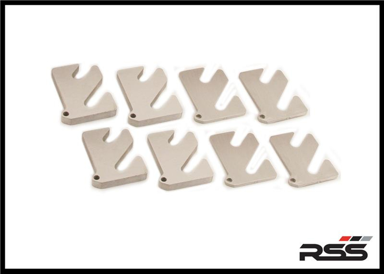 Tarmac Series Alignment Shim Set: (2 of each size) 1mm, 2mm, 3mm, 5mm or 7mm, and 10mm, for RSS 2-Piece Lower Control Arm Set or Porsche OE 2-Piece Lower Control Arm Set Made in the USA