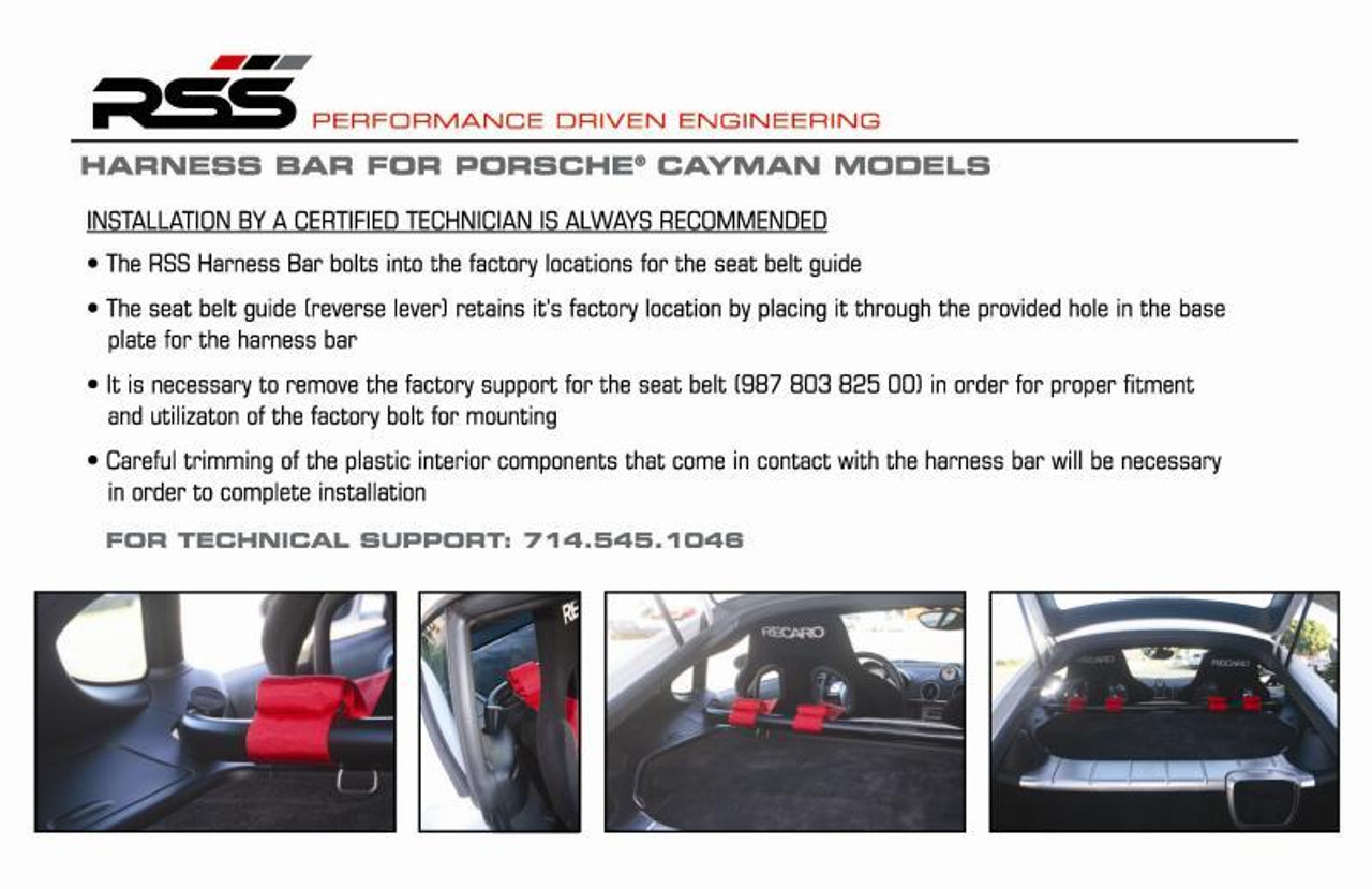 906/30 Cayman Harness Bar (987 Coupes) Finish Black