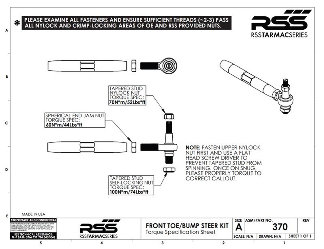 The RSS Adjustable Front Toe/Bump Steer Kit is designed for Porsche models that have been lowered. This kit will help minimize the suspension geometry change in the front of the vehicle. Allows for bump steer adjustment. Improves handling, feedback and control. AVAILABLE FOR ALL PORSCHE® 986, 996, 987, 997, INCLUDING TURBO & GT3/GT3RS.