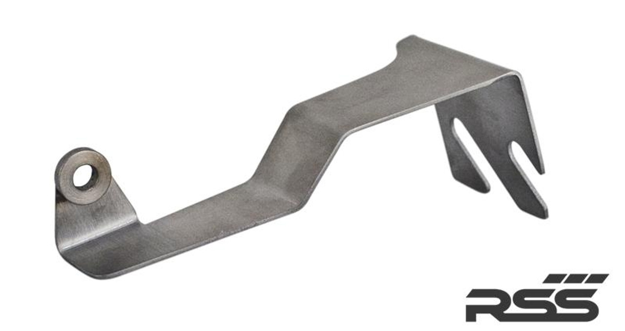 RSS Part # 387 integrates the optional Litronic or Adaptive Headlamp systems with the Tarmac Series Lower Control Arms on 981 Boxster / Cayman. Adapter Bracket for RSS Tarmac Series Rear Lower Control Arm. - 1 Per Car (Located on rear drivers side axle, connects to OE Sensor Arm)