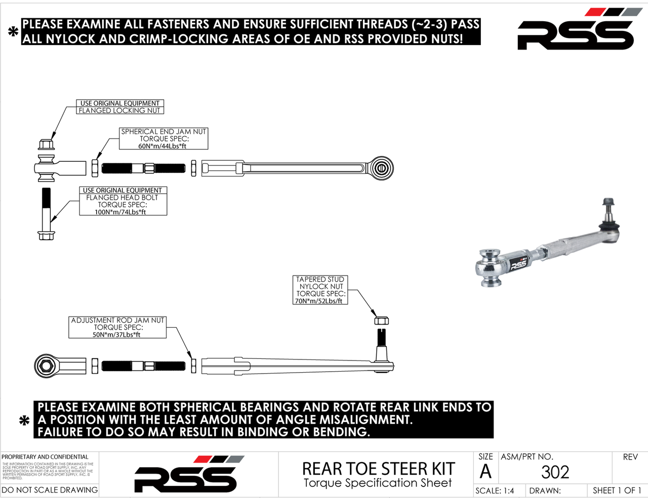 RSS 981 GT4 - TARMAC SERIES ADJUSTABLE REAR TOE STEER KIT (Set of 2) The RSS Adjustable Rear Toe Steer Kit is designed for Porsche GT4 models that have been lowered or have aggressive negative camber settings. This kit will help minimize the suspension geometry change in the REAR of the vehicle. Allows for toe adjustment at the toe steer arm giving the ability to make adjustments independent of the factory eccentric bolts which may not offer sufficient adjustment. Greatly improves handling and feedback. Eliminates rubber bushing deflection. For off road use only. AVAILABLE FOR PORSCHE® 981 GT4 Cayman Models For optional Locking Plate Kit, see our Part #333 For Front Toe/Bump Steer Kit, see our Part #370 For Optional Dust Boots, see our Part # 30178