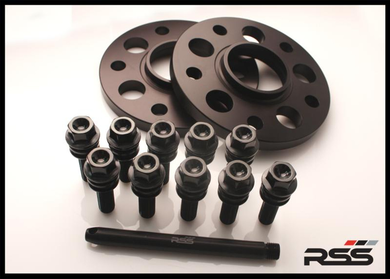 395/11 (7 mm) Hubcentric Black Spacer/Black Wheel Bolts - 971 Panamera  • Wheel Packages • Kit Includes Silver Spacers and All New Black Wheel Bolts at the Appropriate Longer Length and Locating Pin  • All RSS Wheel Spacer Kits Come In Pairs, Include Locating Pin & Longer Wheel Bolts Where Applicable  • Available in 5mm, 7mm, 15mm & 18mm Sizes  • Hubcentric Design Where Applicable  • Most Kits Available in Silver or Black with Matching Silver or Black Wheel Bolts  • Combination Finish: Silver Spacers with Black Wheel Bolts  • Made at RSS in the USA with Premium Grade Materials  • Satisfaction & Fitment Guaranteed