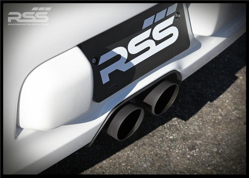 "The RSS 997GT3 X-PIPE CENTER EXHAUST w/ NEW ANGLE CUT TIPS • 3"" Lower & 2"" Upper 304 Stainless Steel Construction • Large 3 3/8"" 304 Stainless Steel Angle Cut Dual Tailpipes Included (welded on) • Ceramic Coated Satin Black • Intoxicating Sound, Aggressive Motorsport Looks • Weighs Only 8 lbs. • All Hardware (clamps) Included • Fits 997.1 GT3/GT3RS & 997.2 (2010+) GT3/GT3RS • Handmade in Southern California, USA"