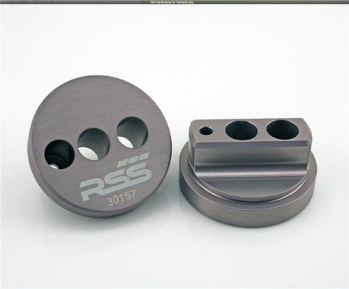 ADJUSTABLE THRUST ARM BUSHING KIT (For vehicles equipped with Hydraulic Thrust Arm Bushings Only) Set of 4 FRONT AXLE ONLY The RSS Adjustable Thrust Arm Bushing Kit will improve handling and response in 987. 997, 981, GT4, 991 GT3 variants, suspension systems and allows for additional caster adjustments. Eliminates unwanted caster changes in both front and rear suspension under acceleration and deceleration AVAILABLE FOR ALL PORSCHE® 987,981, GT4, 997, 991 and 991 GT3, and 991 TURBO NOT FOR 997 GT3/GT2 PLEASE NOTE YOUR YEAR MAKE & MODEL IN COMMENTS SECTION Contact us for fitment assistance