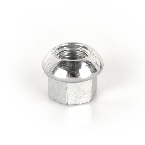 RSS# 50265 - Wheel Nuts -  *Material:  High Strength Manganese Boron Steel Bolts offer an excellent balance of high Tensile Strength (ability of a material to withstand a longitudinal stress) and Toughness (ability of a material to absorb energy and plastically deform without fracturing).   *10.0 Grade Nuts  *Rolled Threads   *Corrosion Resistant – Zinc Finish  *19mm Hex, M14x1.5 Ball Seat  *Torque Specs:  Motorsport Applications require an additional torque of + 10% to + 15% over vehicle manufacturer recommend value. It is always recommend the use of a quality calibrated torque wrench to secure studs and bolts. Use of impact guns/wrench is not recommended.  *Installation Notes:  Use the double nut method for installation of studs into hub in order to assure secure fastening. Use of thread locker on the stud threads at hub is optional.
