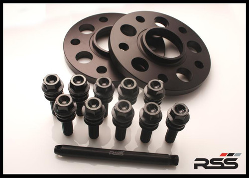 396/11 (15mm) Hubcentric Black Spacer/Black Wheel Bolts - 971 Panamera  • Wheel Packages • Kit Includes Silver Spacers and All New Black Wheel Bolts at the Appropriate Longer Length and Locating Pin  • All RSS Wheel Spacer Kits Come In Pairs, Include Locating Pin & Longer Wheel Bolts Where Applicable  • Available in 5mm, 7mm, 15mm & 18mm Sizes  • Hubcentric Design Where Applicable  • Most Kits Available in Silver or Black with Matching Silver or Black Wheel Bolts  • Combination Finish: Silver Spacers with Black Wheel Bolts  • Made at RSS in the USA with Premium Grade Materials  • Satisfaction & Fitment Guaranteed