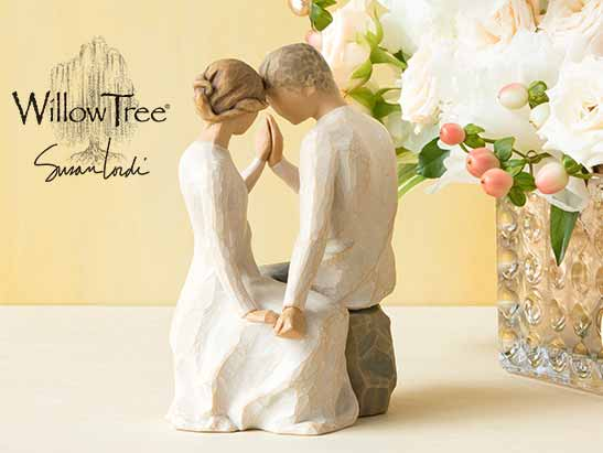 Willow Tree by Susan Lordi. Hand carved figurine of couple posed as if they are dancing