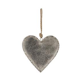 Large, hanging, greyheart pendant