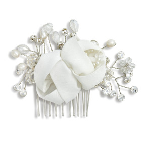 Larger white flower crystal figurine with branches and petals