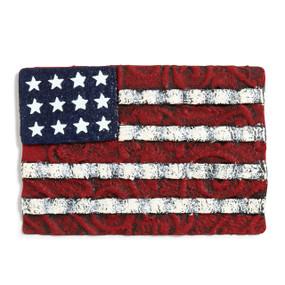 Red, white, blue American flag print