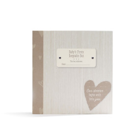 box with label that reads Baby's Firsts Keepsake Box