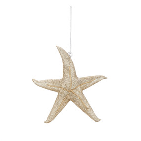 Hanging gold starfish ornament