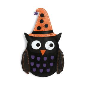 Owl Door Hanger Aluminum Hand-painted Witch Hat