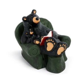 Reading Bear Figurine