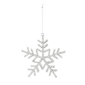 Rhinestone snowflake hanging ornament