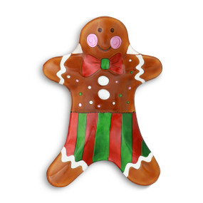 Gingerbread Man Platter Glass Gingerbread Man Shaped