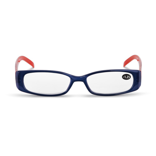 Orange and Navy Check Readers with Case