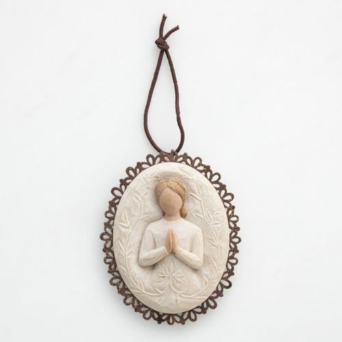 a tree, a prayer Metal-edged Ornament