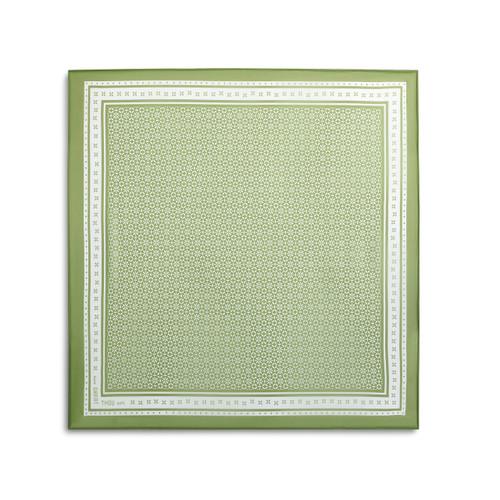 green bandana with white border patterning