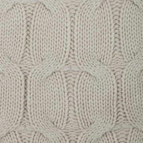 detail shot of light gray knit