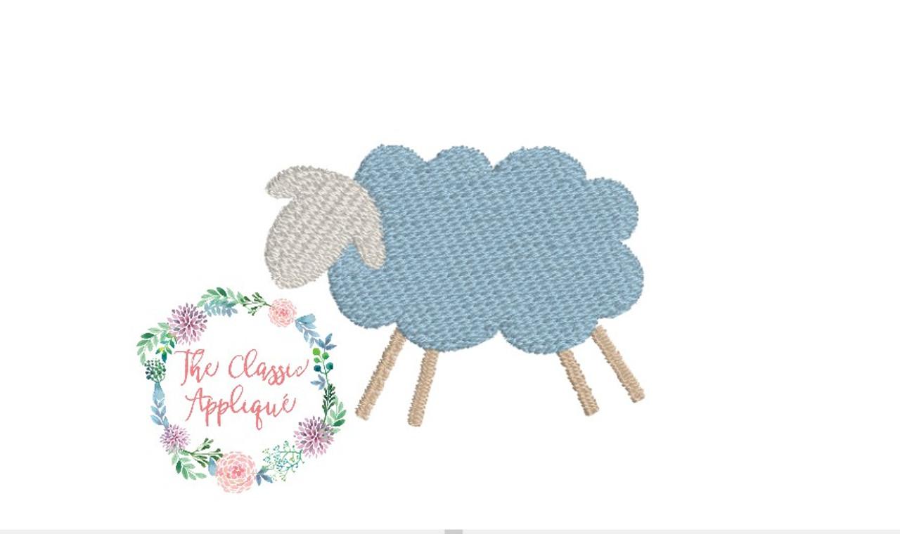 Mini fill stitch lamb the classic applique