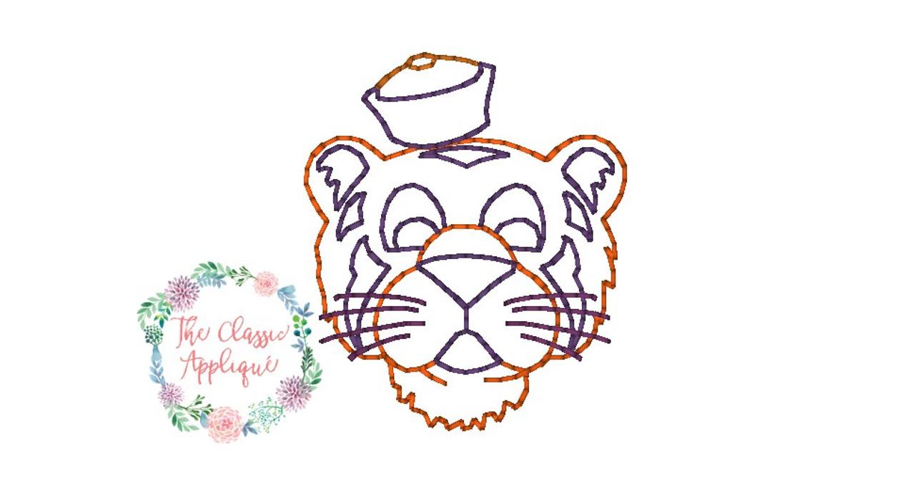 aa4f2e69fce Auburn LSU Clemson Aubie Mike mini Tiger vintage stitch sketch fill ...