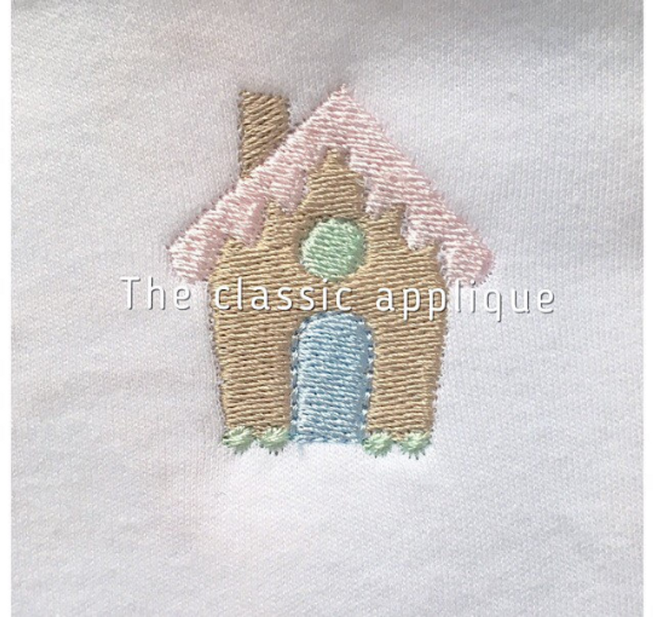 Christmas Gingerbread House Girl Mini Fill Stitch Machine Embroidery Design File By The Classic Applique