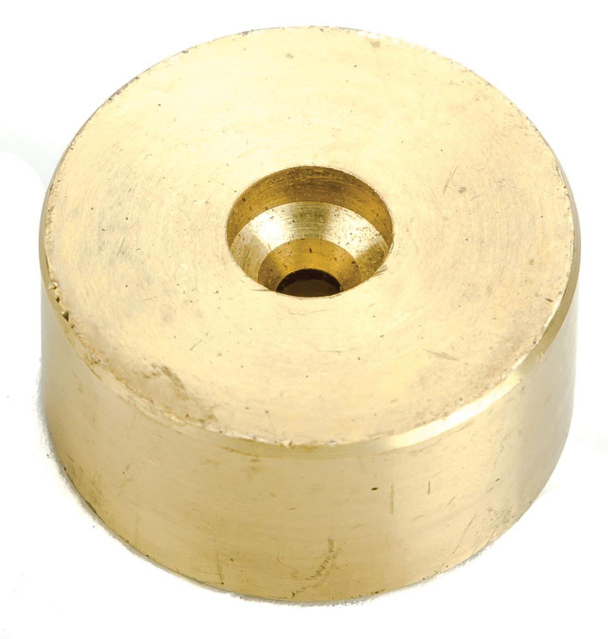 "Brass Flywheel,Press-fit -- 5/32""-4.0mm Shaft x 31mm-1.25"" OD x 16mm L - Scale: HO"