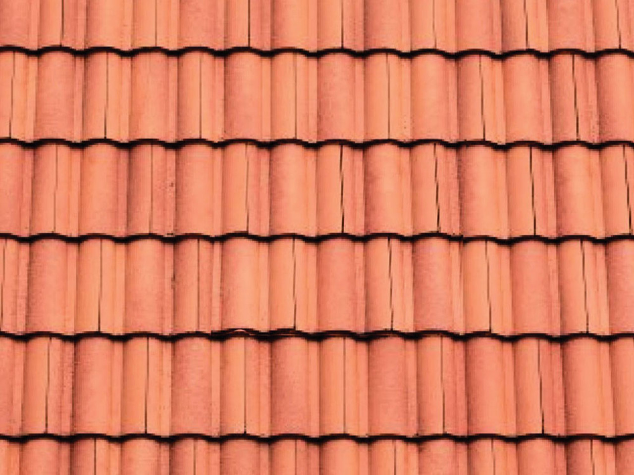 """Patterned Plastic Sheet 2-Pack -- Clay Tile Roof 7-1/2 x 12"""" 19.1 x 30.5cm - Scale: O"""