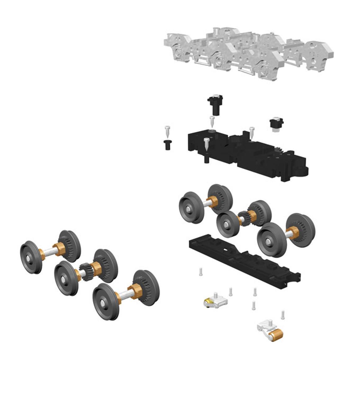 Premier Proto-Scale 3-2 Truck Kit w/Scale Wheels -- 6-Wheel - Scale: O