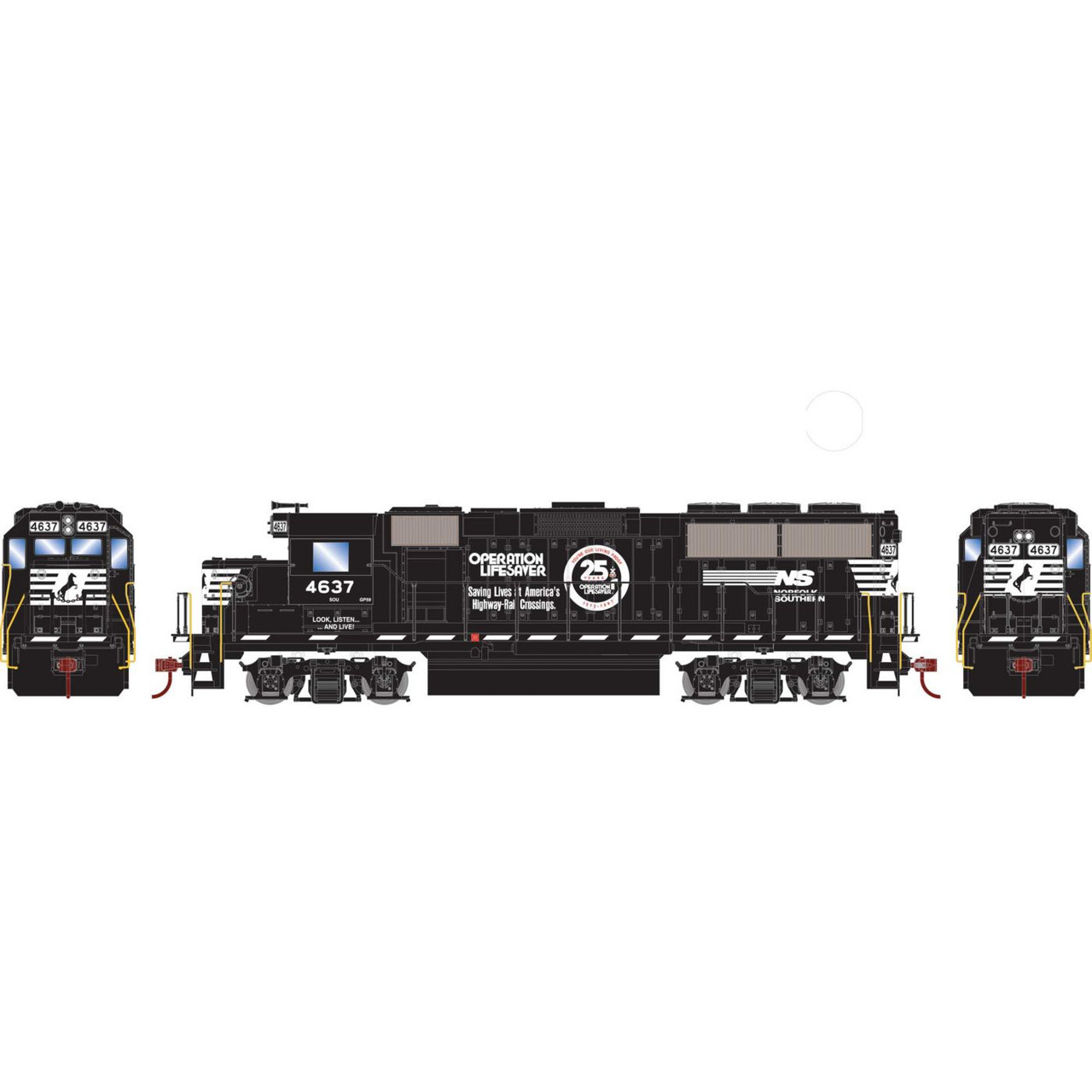 Roundhouse 12654 - HO GP59 w/DCC Decoder, NS/OLS #4637