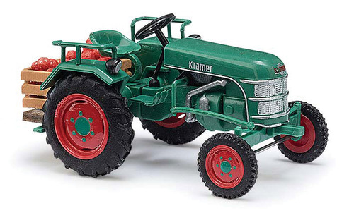 1953 Kramer KL 11 Farm Tractor w/Apple Crate Load - Assembled -- Green, Red - Scale: HO