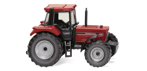 Scale: HO - Case International 1455 XL Farm Tractor - Assembled -- Red, Black