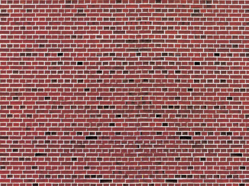 Stone Pattern Embossed Paper pkg(10) -- Red Brick - Scale: HO